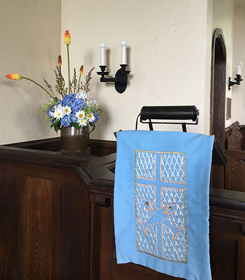 Flowers and Lectern